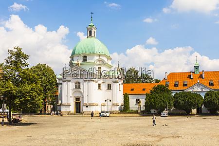 st kazimierz church warsaw poland europe