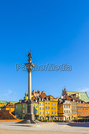 sigismunds column and buildings in plac