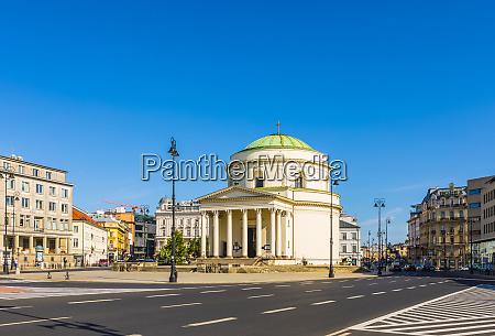 st alexanders church warsaw poland europe