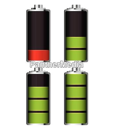 illustrierte batterieladung die es fuellen und