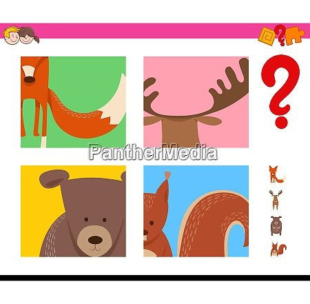guess wild animals activity for kids