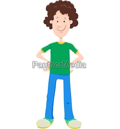 kid or teenager boy cartoon character