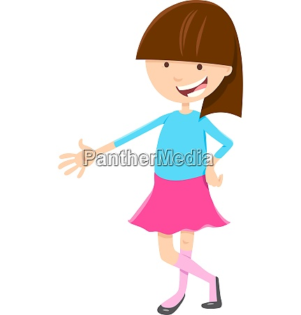 kid or teen girl cartoon character