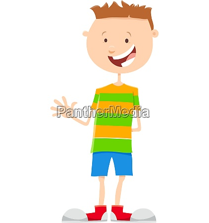 kid or teen boy cartoon illustration