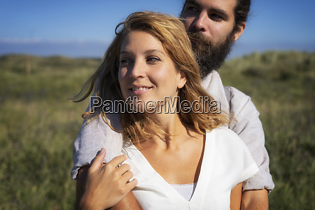 portrait of a happy couple spending