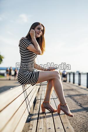 usa new york brooklyn woman sitting