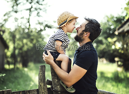 father and little son spending time