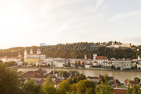 germany bavaria passau view of fortress