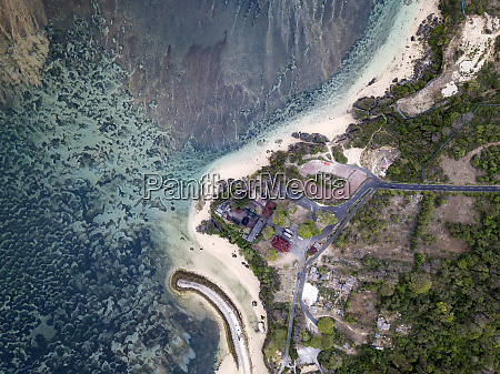 indonesia bali aerial view of nusa