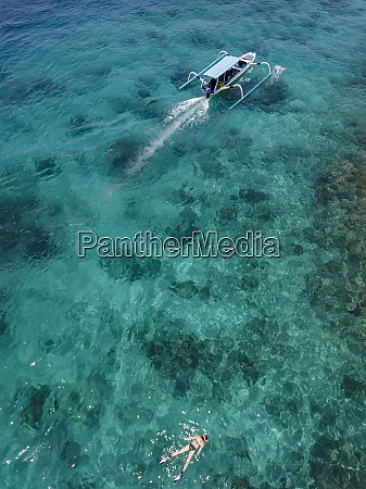 indonesia bali aerial view of blue