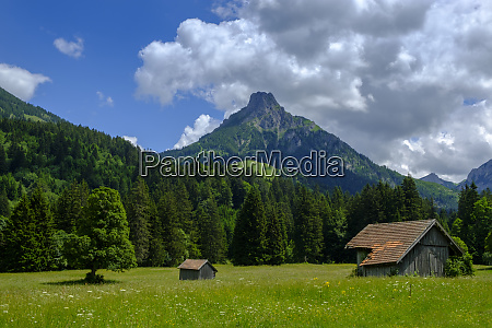 germany bavaria swabia allgaeu tannheim alps