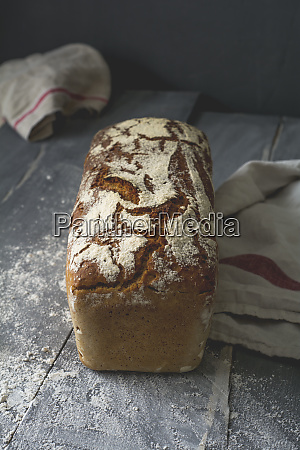 home baked rustic rye bread