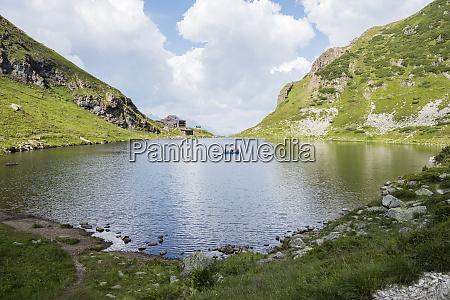 austria tyrol fieberbrunn wildseeloder with lake
