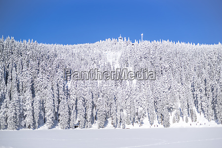 germany baden wuerttemberg winter landscape at