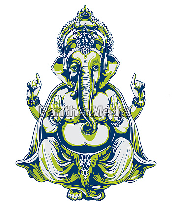 ganesha hindu lord bless mythology bless