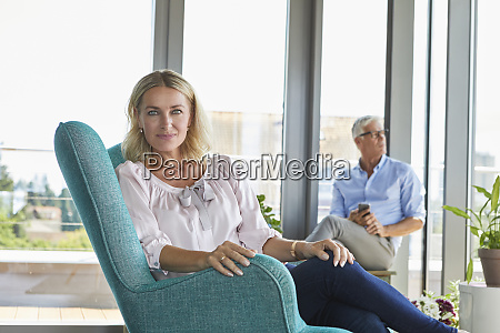 portrait of mature couple relaxing at