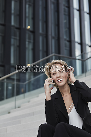 portrait of smiling young businesswoman on
