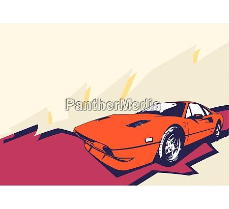 vektor illustration von alten vintage benutzerdefinierte