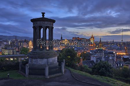 uk scotland edinburgh view to the