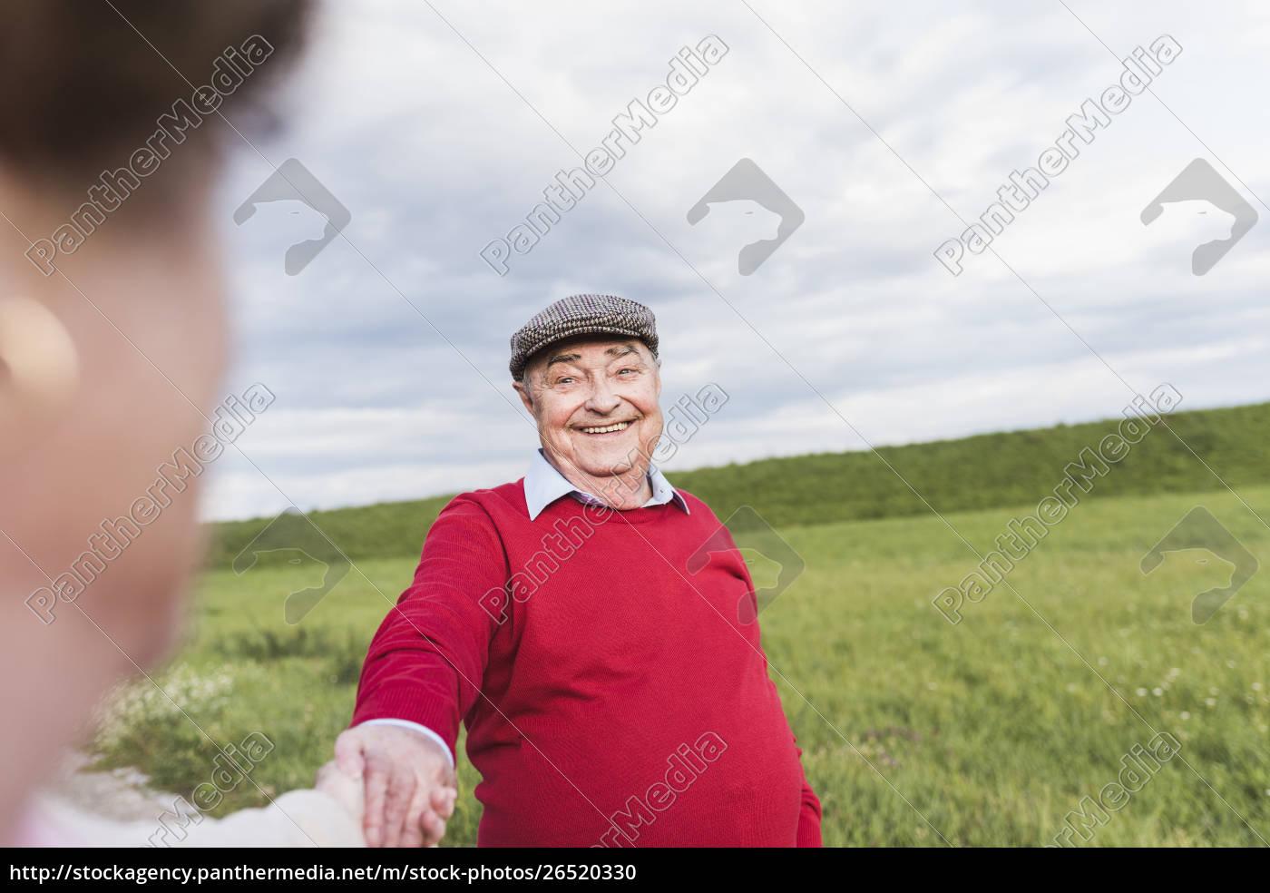 glücklicher, senior, mann, lächelt, frau, in - 26520330