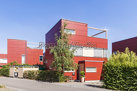germany karlsruhe modern cubical houses in