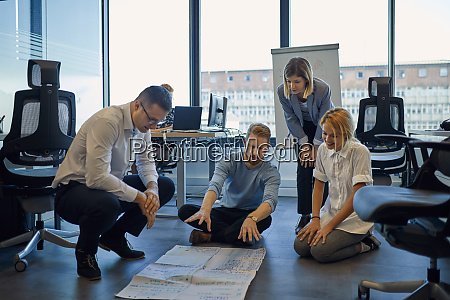 business team brainstorming in office