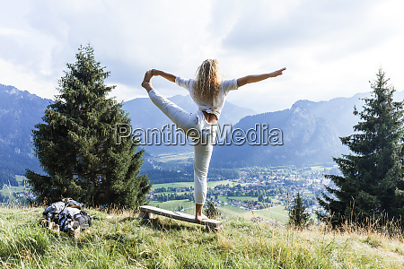 germany bavaria oberammergau young woman doing