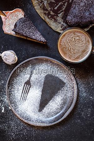 aufdruck einer scheibe kuchen und einer