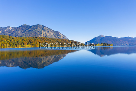 germany bavaria upper bavaria lake walchen