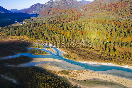 germany lenggries isarwinkel aerial view of
