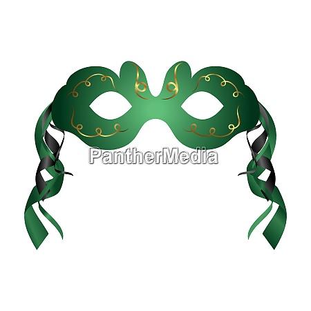 illustration von realistischer karnevals oder theatermaske