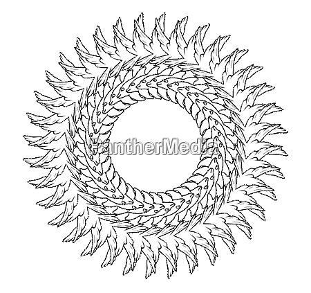 symmetrisches mandala als artwork 3d rendering