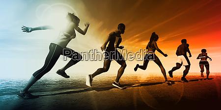 sportarten ablenken hintergrund