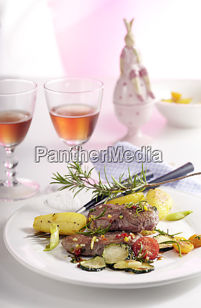 lamb steaks in an orange and