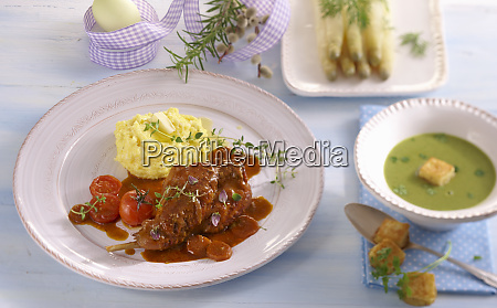 an easter menu with chervil soup