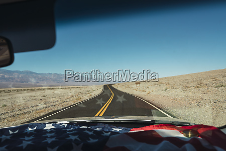 usa california death valley american flag
