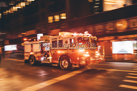 usa new york city fire truck