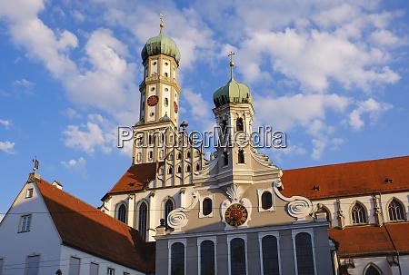 germany bavaria augsburg evangelic ulrich church