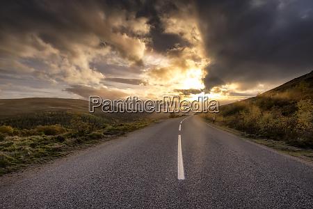 great britain scotland highlands road at