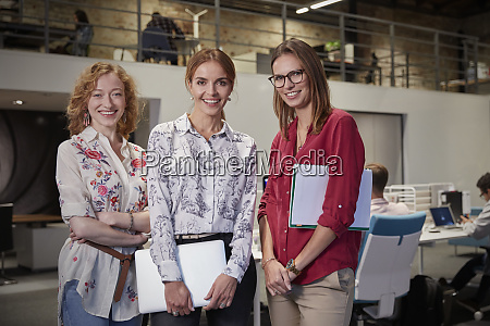group portraits of female colleagues in