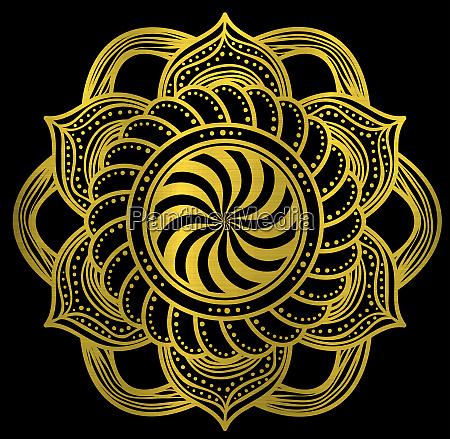 metallische goldene lotus blume geist hloy