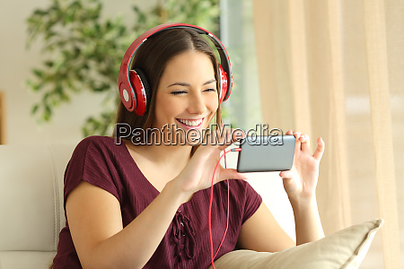 girl watching videos in a smart