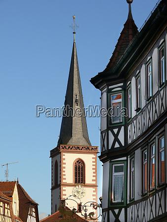 lohr am main with church
