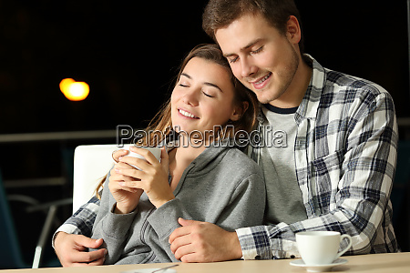 couple of teenagers dating in a
