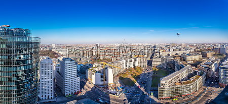 panoramablick auf die innenstadt von berlin