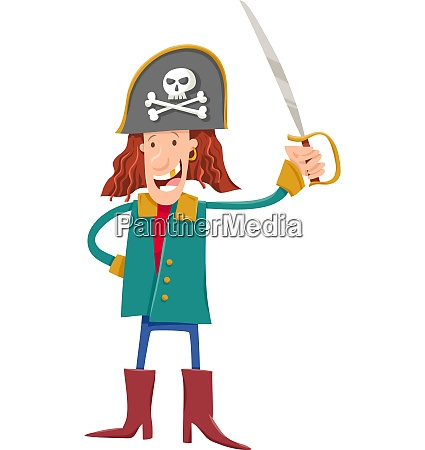 funny fantasy pirate cartoon illustration