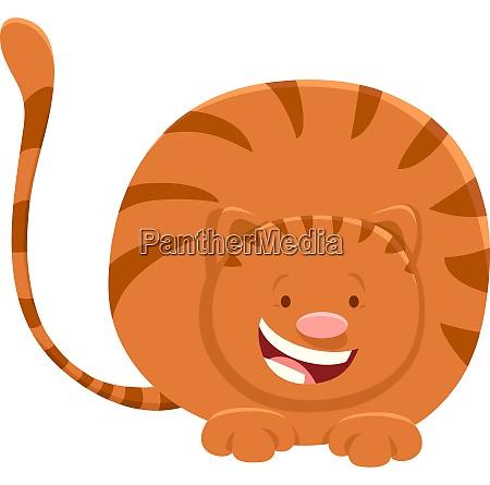 cute red cat cartoon animal character