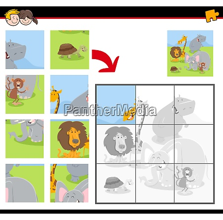jigsaw puzzles with cartoon animals