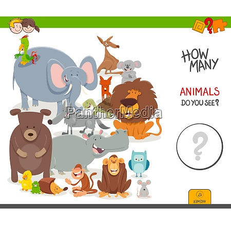 counting cartoon animals educational game