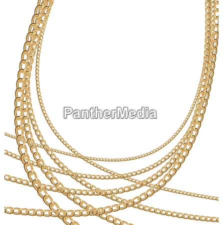 illustration des satzes schmuck goldketten verschiedene